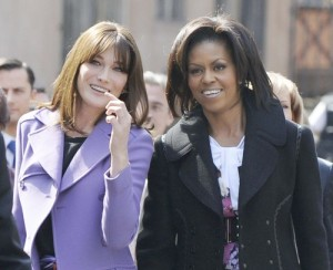 Michelle Obama and Carla Bruni Sarkozy