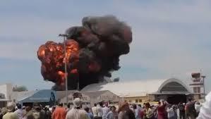 Accident in Madrid la un show aviatic