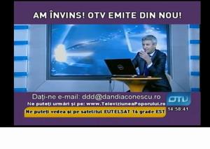 OTV-ul lui Dan Diaconescu s-a intors