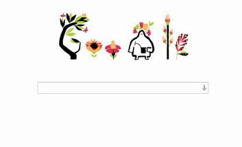 Google celebreaza Echinoctiul de Primavara 2014 cu un logo special