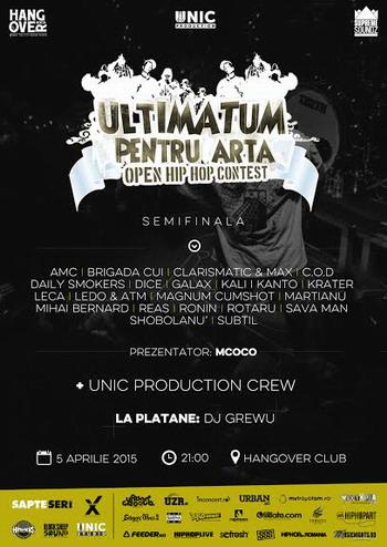 Semifinala UPA 2015 - Poster