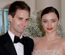 Miranda Kerr s-a casatorit cu Evan Spiegel fondatorul Snapchat
