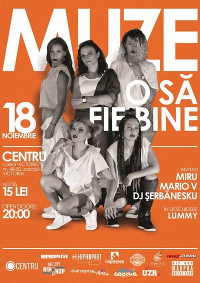 MUZE - Concert - Centru Bucuresti - POSTER